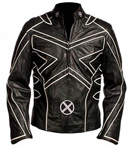 Classyak Wolverine Xmen - Giacca in pelle da uomo Bianco finto L