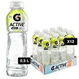 G Active, Acqua Funzionale Gusto Limone, con Sali Minerali e Vitamine B6 e Niacina, con Poche Calorie, Formato da 12x500ml