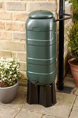 Mini Rainsaver 100 litre Water Butt Kit with Lid, Tap, Base and Rain Diverter Kit