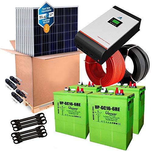 Kit Solar 24v 1500w/7500w día Inversor Multifunción 3kva Regulador MPPT 60A Batería UP-GC16 600Ah
