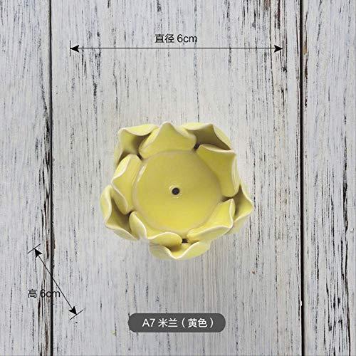 CFLFDC Kandelaar van keramiek, creatieve decoratie voor thuis, multifunctioneel, aromatherapie-kaars, A7 Milano
