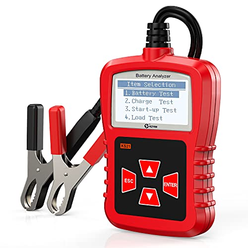 KZYEE KS21 Battery Tester 12V 100-2000 CCA Auto Car Battery Load Test Digital Analyzer for Detect Health Faults, Cranking and Charging System
