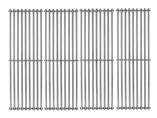 """Votenli S6602D (4-Pack) 17 3/8"""" Stainless Steel Cooking Grid Grates Replacement for Broil King Baron 320, 340, 420, 440, 490 and Huntington 2122-64 2122-67 6020-54 6020-57 6020-64 Broil-Mate,Sterling"""