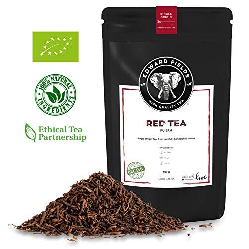 Edward Fields - Té Rojo Pu Erh Orgánico de alta calidad. Cantidad: 100g. Formato:...