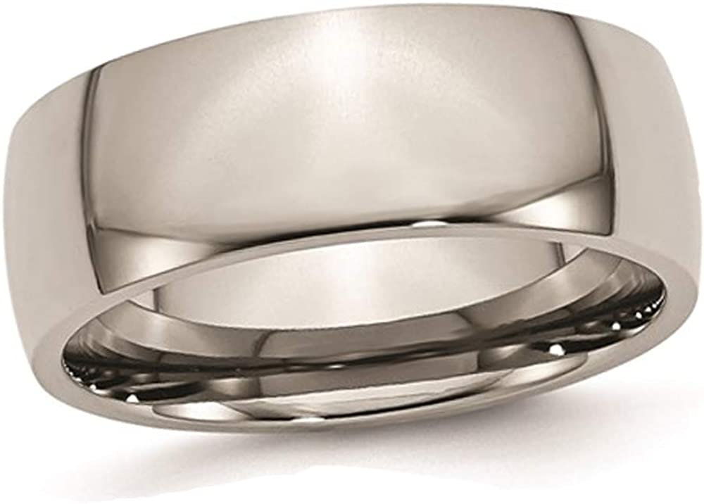 Gem And Harmony Same day shipping Mens Excellent Chisel 8mm Titanium Wedding Comfort Fit Ban