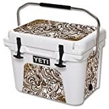 MightySkins (Cooler Not Included) Skin Compatible with YETI Roadie 20 qt Cooler wrap Cover Sticker Skins Vintage Swirls