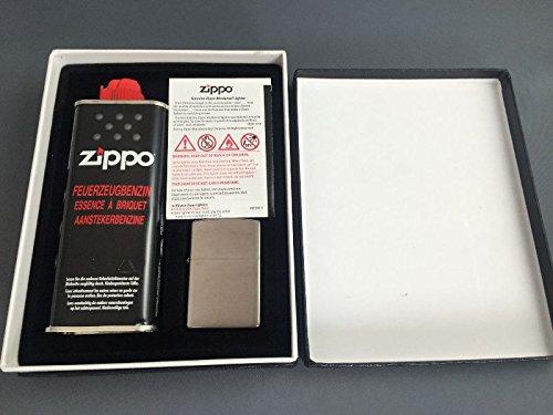Zippo Geschenkset Set Chrome gebürstet Brushed Feuerzeug