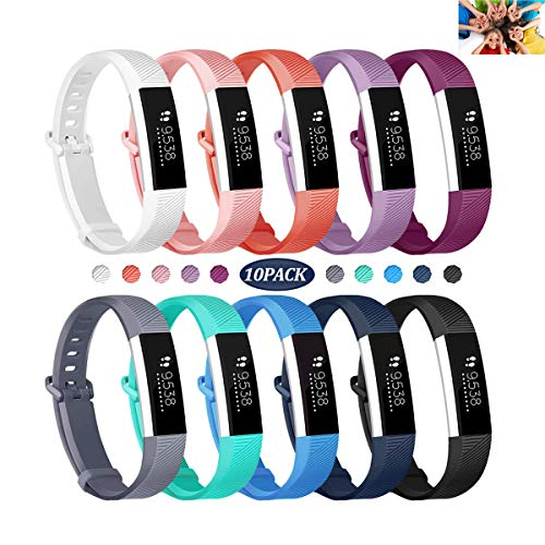 Wekin Replacement Bands Compatible with Fitbit ACE, Soft Silicone Sport Accessory Wristband Strap for ACE,Alta HR (not fit for ACE 2) Fitness Tracker Specially Designed for Kid's Wrist (5.5