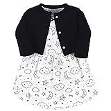Hudson Baby Girls' Cotton Dress and Cardigan Set, Dreamer, 2 Toddler