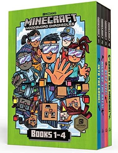 Minecraft Woodsword Chronicles Box Set Books 1 4 Minecraft A Stepping Stone Book TM product image