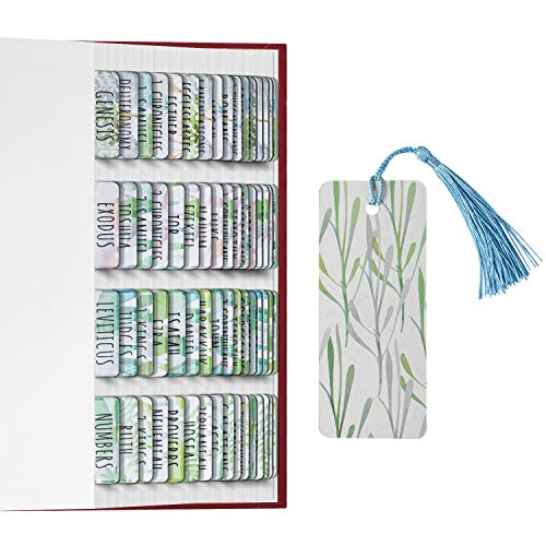 2PCS Bible Tabs Old and New Testament, Large Print and Easy-to-Read Bible Journaling Supplies, Personalized Bible Tabs for Women, Laminated 80 Bible Index Tabs (66 Books, 14 Blanks).
