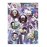 redCherry Anime broschen Button Badges pins Set für Kleidung Rucksack federmäppchen, 8 Teile/Satz(Tokyo Ghoul) -