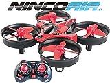 Ninco-NH90132 Drone Piw. Con hélices protegidas A partir de 8 años Color rojo NH90132, (90132NH)
