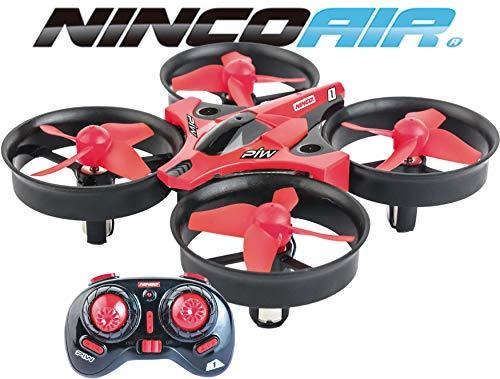Ninco - Nincoair Piw. Drone Con eliche Protette. Adatto per principiati. + 8 anni. Rosso. (NH90132)