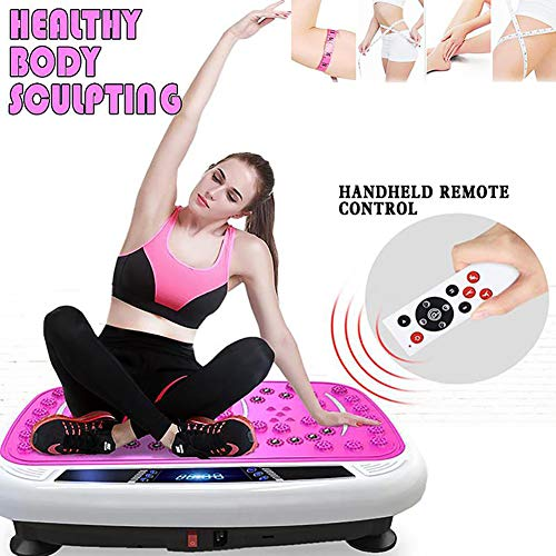 ZDYLM-Y Vibrationsplatte mit Fernbedienung, Ganzkörper-Massage-Vibrationsplatte, Mehreren Modi, Trainingsgeräten für zu Hause,Rosa