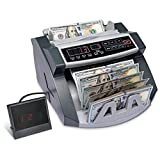 FAST, ACCURATE BILL COUNTING | Money Counting Machine Automatically Tallies Banknote Quantity Over 900 Pieces Per Minute | Ultimate Efficiency for Personal & Professional Business, Banking, Accounting & More ADJUSTABLE ANTI-JAM TRAY | Hopper Adjusts ...