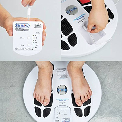 DR-HO'S Circulation Promoter Basic Package - TENS Machine, EMS and AMP with 1 Year Warranty - Improves Circulation, Reduces Swelling, and Alleviates Feet and Leg Pain