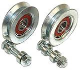 V50-8) Lot de 2 roues coulissantes pour portail coulissant en V Groove...