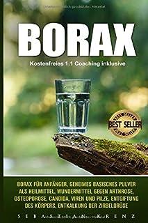 Borax: Borax Für Anfänger, Geheimes Basisches Pulver ALS Heilmittel, Wundermittel Gegen Arthrose, Osteoporose, Candida, Vi...