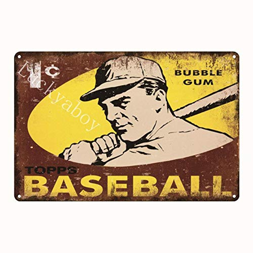 ivAZW Vintage Baseball Football Sports Plaque Metal Tin Signs Bar Pub Home Decor Plate Sports Poster 20x30cm 5