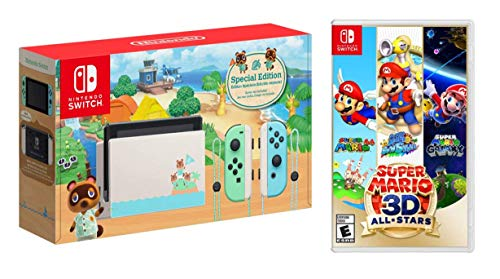 Newest Nintendo Switch Game Bundle: Animal Crossing-New Horizons Edition, Super Mario 3D All-Stars