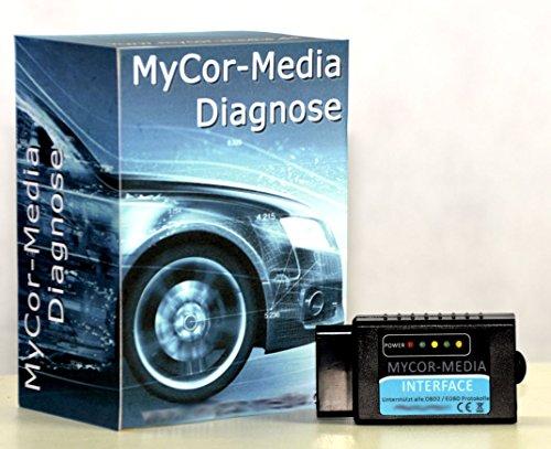 MyCor-Media Interface Bluetooth pour Nissan Can-Bus OBD2 Diagnostic + Applications et Logiciel