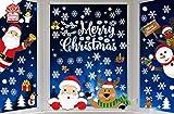 Yutdeng NoëL Autocollants Fenetre NoëL Flocons de Neige Stickers Décoration DIY Fenêtres Stickers Noël Autocollant Réutilisable Statique Autocollants DéCalcomanie pour Noël Décorations
