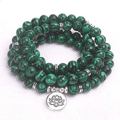 Mxdztu Co.,ltd Collar 108 Mala Beads Mujeres Yoga Pulsera Dropshipping Malaquita Hombres Pulsera Chakra Stone Jewelry Trendy