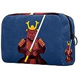 Beauty Case uomo & donna Armatura da samurai borsa da toilette per uomini & donne borsa cosmetica uomo donna per borsa da viaggio per lavaggio 18.5x7.5x13cm