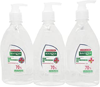 Boutique Hand Sanitizer Gel 500 ml, Anti Bacterial Sanitizer Gel, BUNDLE 3PCs, by MINI SPECTRA (3 Pack)