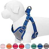 umi. by amazon - pastel - arnés tipo chaleco para perros reflectante l, contorno del pecho 74-98 cm, arneses ajustables para perros (azul marino)
