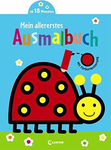 Mein allererstes Ausmalbuch (Marienkäfer): Malbuch für Kinder ab 1 Jahr / 18 Monate / 2 Jahre