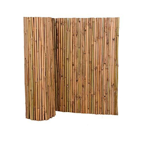 Nature by Kolibri Sichtschutz aus Bambus 120x300cm, Bambusmatte Sichtschutzmatte Windschutz Zaun für Garten Balkon Terrasse