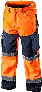 Grupa Topex Neo Orange His Vis Softshell Cargo Work Trousers Waterproof Windproof Fleece Lining
