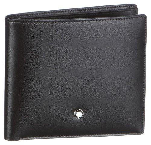 MST Wallet 8cc Black Material impermeable Diseño elegante y cómodo de llevar Todos nuestros productos están identificados con un emblema Montblanc Tamaño: 11 x 12 x 2