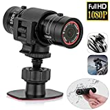 Needediy 1080P Mini Sports Camera Full HD Waterproof DV Camcorder 120 Degree Wide Angle,Bike Motorcycle Action DVR Video Cam Perfect for Outdoor Sports