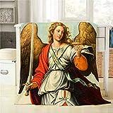 WH-CLA Blanket Escena Bíblica Pintura Basílica De La Asunción De Nuestra Señora De Valencia Acogedor para Todas Las Estaciones Manta De Franela Ligera Mantas Decorativas Estampado Suave