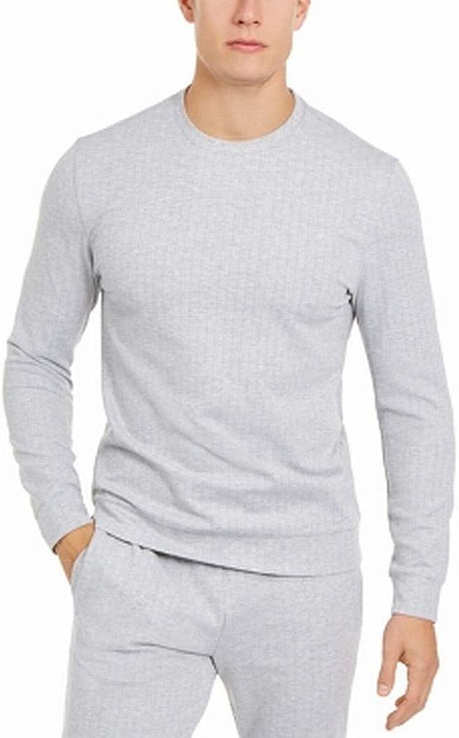 Alfani Mens Sweater Light Heather Small Crewneck Pullover Gray S