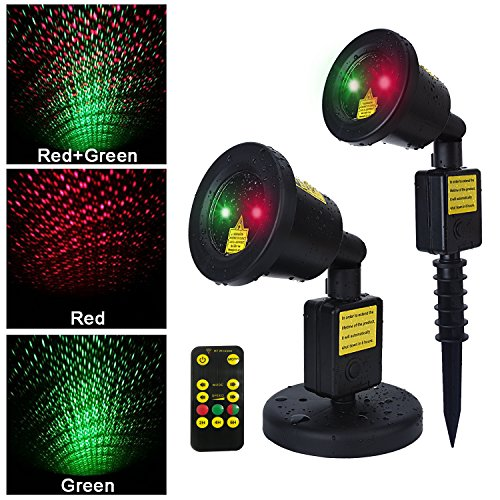 WEBSUN Outdoor Motion Projector Remote Control Waterproof LED Christmas Laser Light style1 Balck