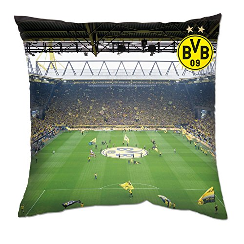 Borussia Dortmund, BVB-Kissen Südtribüne, Mehrfarbig, 40x40cm