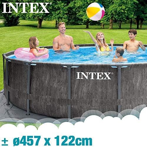 Intex 26742NP - Piscina desmontable INTEX, 457x122 cm, con depuradora cartucho, 3.785 litros/hora, filtro cartucho tipo A, piscina Greywood Prism Frame, 16.805 litros, piscina para 6 personas 2