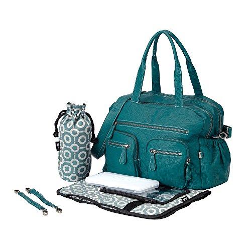 OiOi Turquoise Faux Buffalo Carry All Diaper Bag