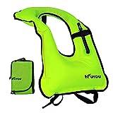 Best Adult Snorkeling Vests - KUYOU Inflatable Snorkel Vest Adult Life Jackets Review