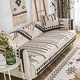 Funda de sofá Simplicity para 1/2/3/4 plazas, Funda de sofá de 1 Pieza, Fundas de sofá de algodón Antideslizantes, Protector de Muebles de geometría, aplicable Durante Todo el año