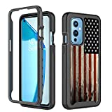 GMJzzx OnePlus 9 Case for Girls Women,Red Wood American Flag Rugged Shockproof Hybrid Full Body Hard Plastic & Soft TPU Protective Case Cover for OnePlus 1+9 5G,Red Wood USA Flag