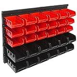 Panorama24 Wandregal Stapelboxen rot Set ✔ 32 tlg Box ✔
