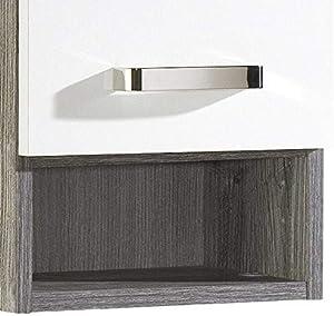 Held Möbel 564.2119 Capri Hängeschrank, 1 Tür, 1 Einlegeboden, 30 x 64 x 20 cm, weiß/Eiche-Vintage