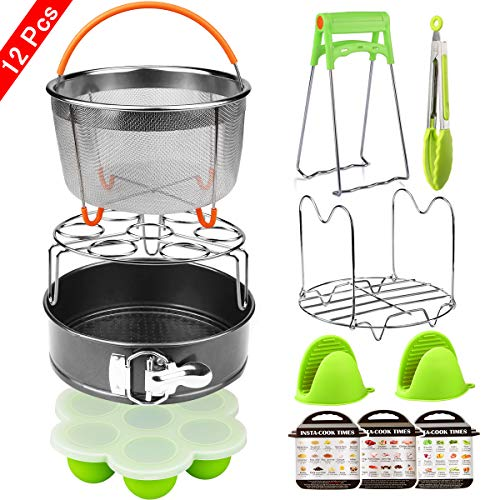 Aiduy 12 Pieces Pressure Cooker Accessories Set Compatible with Instant Pot