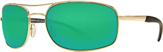 Costa Del Mar Sunglasses - Seven Mile- Glass / Frame: Gold Lens: Polarized Green Mirror Wave 400 Glass