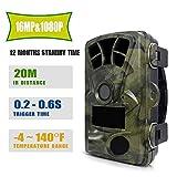 BESTSUGER Hunting Trail caméra avec 0,3 Trigger Temps activé par Le Mouvement et 940nm IR Vision Nocturne à 65ft, écran 2.4in avec IP56 étanche